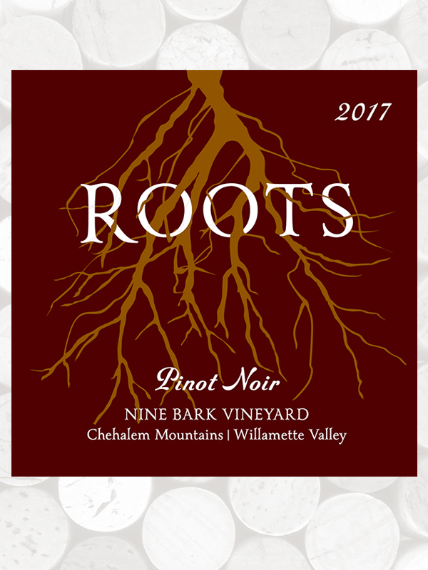 Roots 2017 Nine Bark Vineyard Pinot Noir, Chehalem Mountains AVA